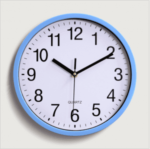 10 Inch 25CM Plastic Wall Clock Quartz Clock Bedroom Living Room Wall Clock Simple Clock Custom Logo CK1024