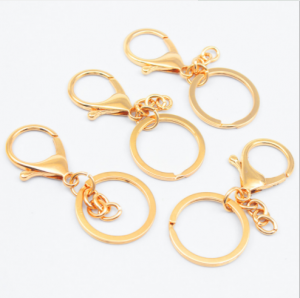 Wholesale Flat Round Split Ring, Metal Gold Keyring, Keychain KC0678