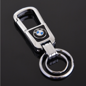 Wholesale Custom Leather Keychain Printed Bmw Keyring KC0679