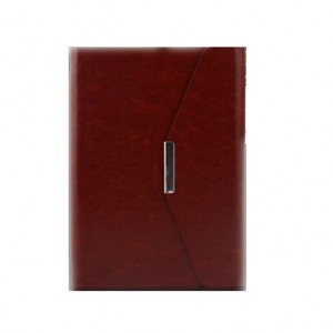Notepad A5 high-grade leather business tri-fold page gift notebook customized  stationery Book NBK0007