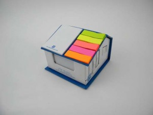 attractive stationery house shaped memo box with sticky notes NBK0048