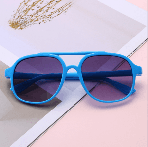 2018 new large frame children sunglasses retro fashion baby sunglasses cool color film children's mirror GS0144