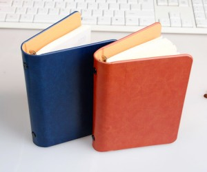 Refillable Leather Pocket Notebook Mini Composition Book NBK0052