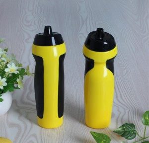 PE plastic sports bottle veneer hand-held water bottle elbow sports water sports bottle custom-made BT0025