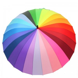 "27""*24k rainbow colours golf Umbrella"