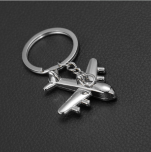 Fashion souvenir gift custom metal airplane keychain