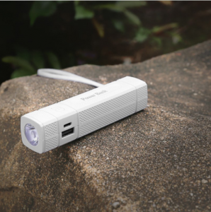 Corporate gift flashlight power bank with touch light 2600mah  PBK0016