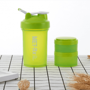 450ml handle sanding three-layer shake cup fitness gift cup three-layer precise scale cup protein powder shake cup SKB1037