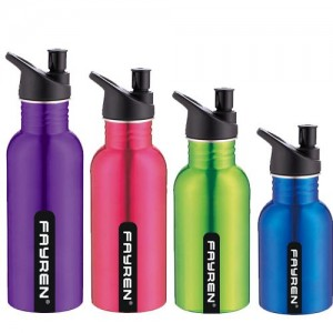 500ML/600ML/750ML Aluminum Sport Water Bottle With Strew Cap BT0036
