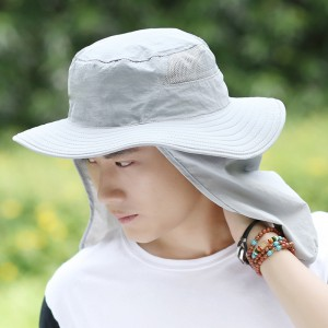 Outdoor Fashion Summer Fisherman Hunter Bucket Hat With Neck flap CAP0007
