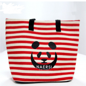 Wholesale Canvas Printed fashion shopping bag cotton sling bag cotton CB0008