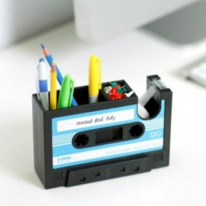 Vintage cartridge pen holder, tape cartridge pen holder, creative desk holder DHD0005