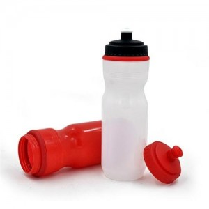 PE plastic sports water bottle bpa free, plastic squeeze water bottle with nozzle BT0026