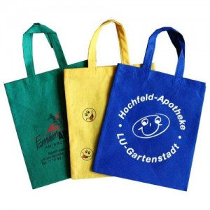 Customized promotional branded non woven bag cotton pp woven grocery shopping bag NB0001