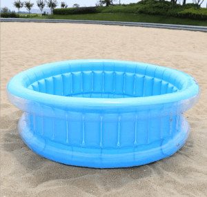 Children's inflatable pool 130cm round swimming pool crystal bubble bottom bathing pool marine ball pool IT1047