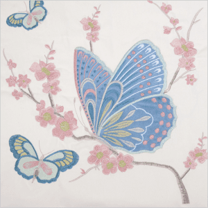 Custom core pillow Chinese butterfly patch flat embroidery pillowcase custom bed lumbar pillow sofa square cushion cover PW1019