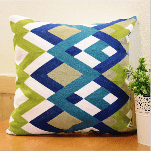 Custom handmade pillowcases Three-dimensional creative embroidery pillows Customized geometric pillows National wind cushion pillows PU1013