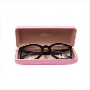 Custom metal frosted leather frame glasses tin box myopia glasses box tin box GC0017