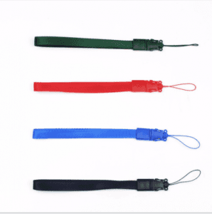 Explosion mobile phone lanyard label sling pure color with robot double ear buckle plastic buckle cup rope LY1072