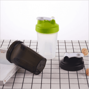 Food grade pp plastic shake cup 400ml fitness muscle protein powder stir cup SKB1042