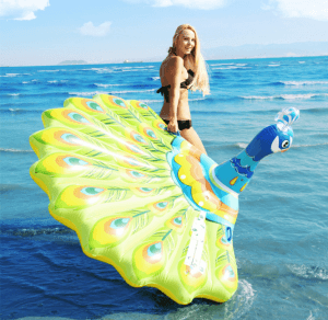 Inflatable floating bed peacock floating bed adult water toy IT1036