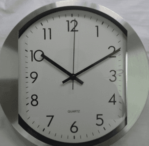 Metal stainless steel mute wall clock creative fashion living room aluminum wall clock CK1034
