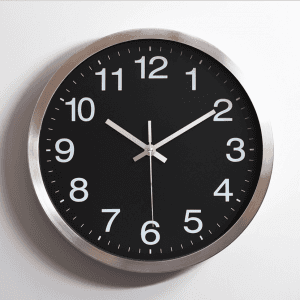 Metal stainless steel mute wall clock creative fashion living room aluminum wall clock custom LOGO watch wholesale aluminum clock CK1028