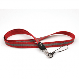 Mobile phone lanyard label sling rope woven anti-light metal hook CSC with cast circle line head LY1058