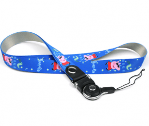 New explosion models heat transfer pig lanyard two in one rotating ring buckle detachable LY1062