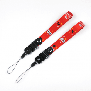 New explosion models thermal transfer Wangcai dog lanyard two in one rotating ring buckle detachable LY1066