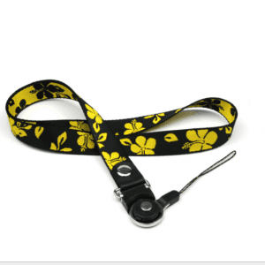 New mobile phone lanyard label sling jacquard flower two-in-one rotary buckle detachable LY1055