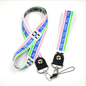 New mobile phone lanyard label sling rope with metal hook CSC with cast circle line head LY1069