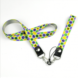 New thermal transfer mobile phone lanyard label sling metal hook CSC with cast circle line head LY1067