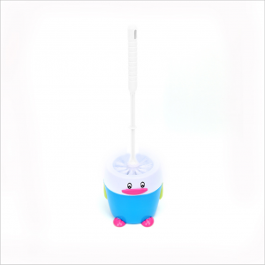 Penguin toilet brush plastic with base set cartoon toilet cleaning brush fashion creative toilet brush BS1083