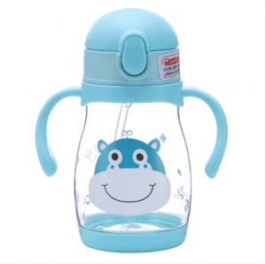Plastic base baby learning cup child sippy cup leakproof children cup anti-fall hand cup vc1011