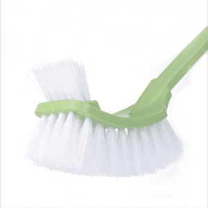 Plastic long handle toilet brush, double-sided dead-end soft fur cleaning brush, toilet brush, crevice brush BS1082