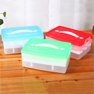 Portable double-layer refrigerator egg box finishing box egg storage box egg tray stackable fresh-keeping box ST1113