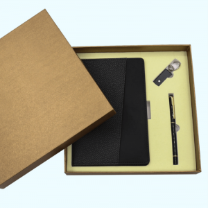 Customized notebook set creative gift three-piece set with USB pen office stationery supplies custom logo NBK0040