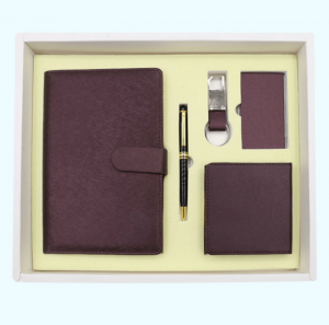 Customized top office stationery A5 notebook set gift box with U disk loose-leaf notebook NBK0043