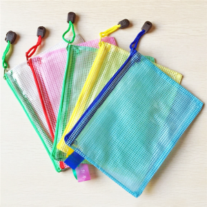 China wholesale PVC bag zippered PVC mesh bag PVC document bag LF0025