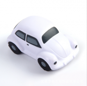 Custom Logo Foam Mini Beetle Car Shape Stress Ball  STR0021