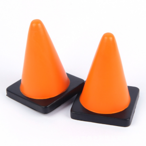Cumtom Logo Promotional PU Safety Cone Stress Ball  STR0097