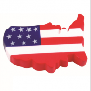 Printed PU stress reliever/PU foam anti stress toy/American flag design foam toy  STR0101