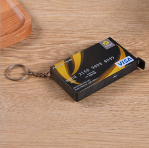 Credit card shaped steel blade retractable measuring tape  TMS0037
