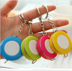 Plastic Color Tape Measure Keychain with Custom Logo  TMS0049