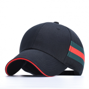 High quality custom 6 panel curve bill waxed cotton embroidery snapback baseball cap  BC0006