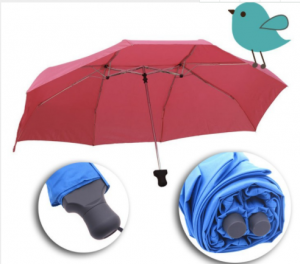 auto open lovers umbrella with 3 folded two top  UM0053