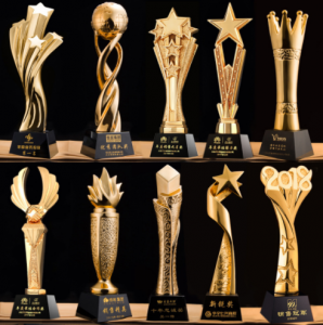 Custom Resin Gold award   Trophy Customized Resin SportsTrophy  TR0101