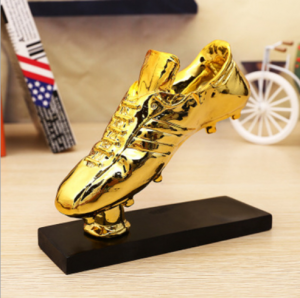 Golden Resin Shoes Wholesale Trophy American Football  TR0103
