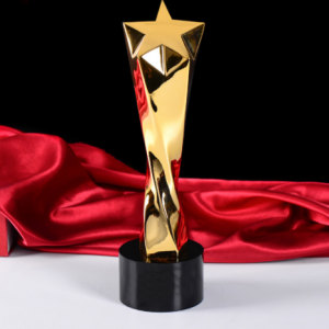 Custom Engraved Resin Gifts Trophy Awards Star  TR0105